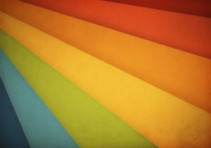 Colourful design image showing retro colour strips