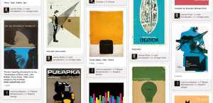 screen shot from pinterest showing graphic design inspiration