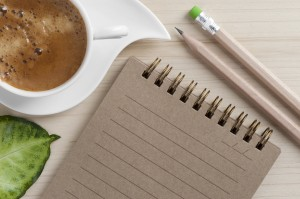 coffee and note pad