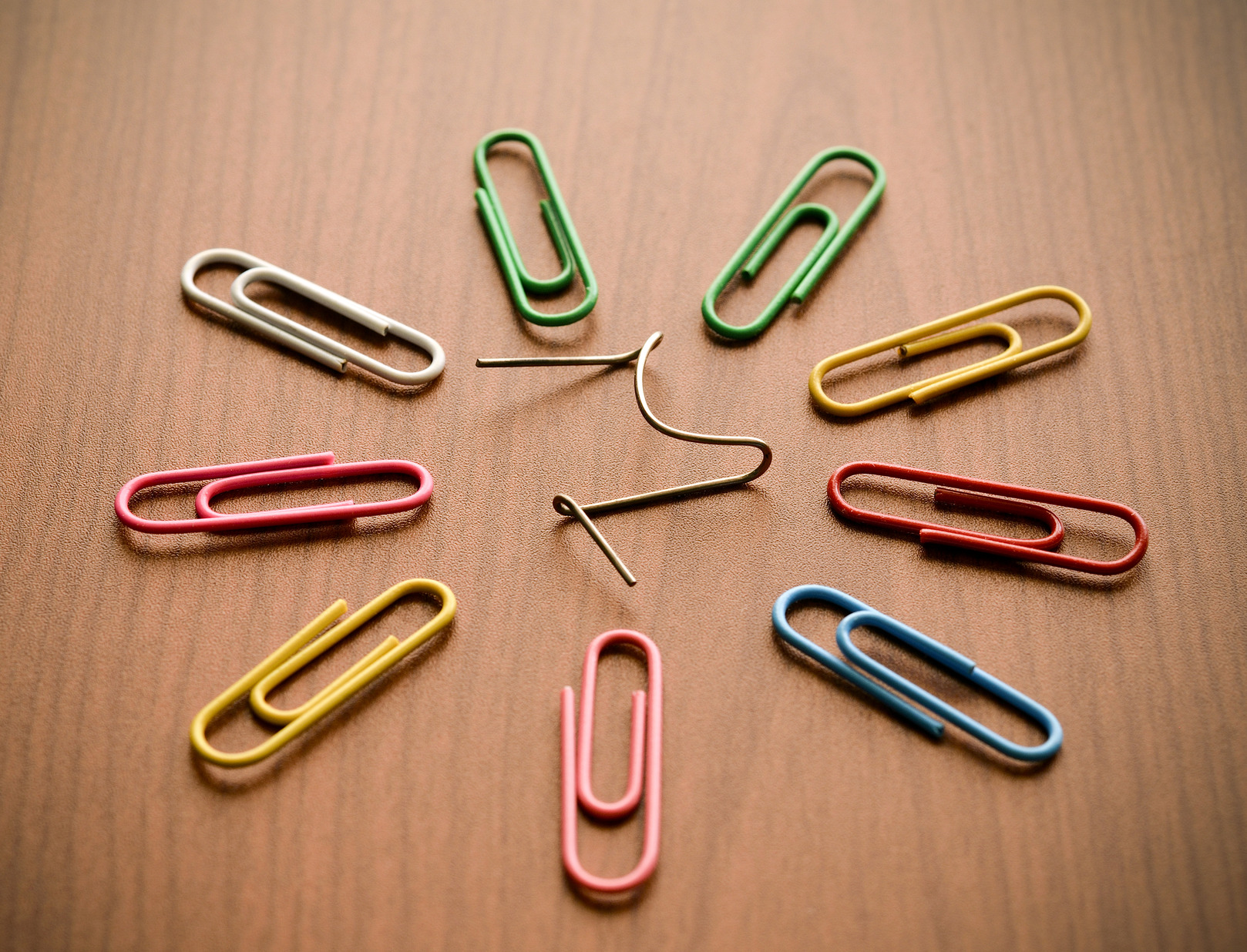 paperclips representing the creative process